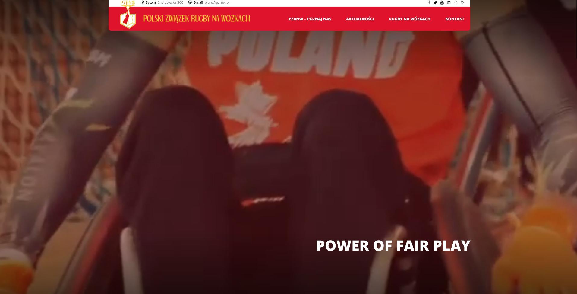 Zrzut ekranu strony Związku