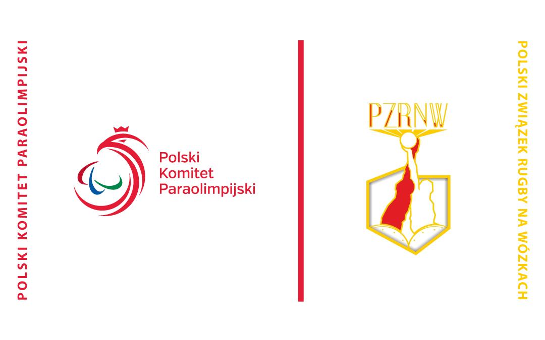 Obrazek przedstawia logo Polskiego Komitetu Paraolipisjkiego oraz logo Polskiego Związku Rugby na Wózkach