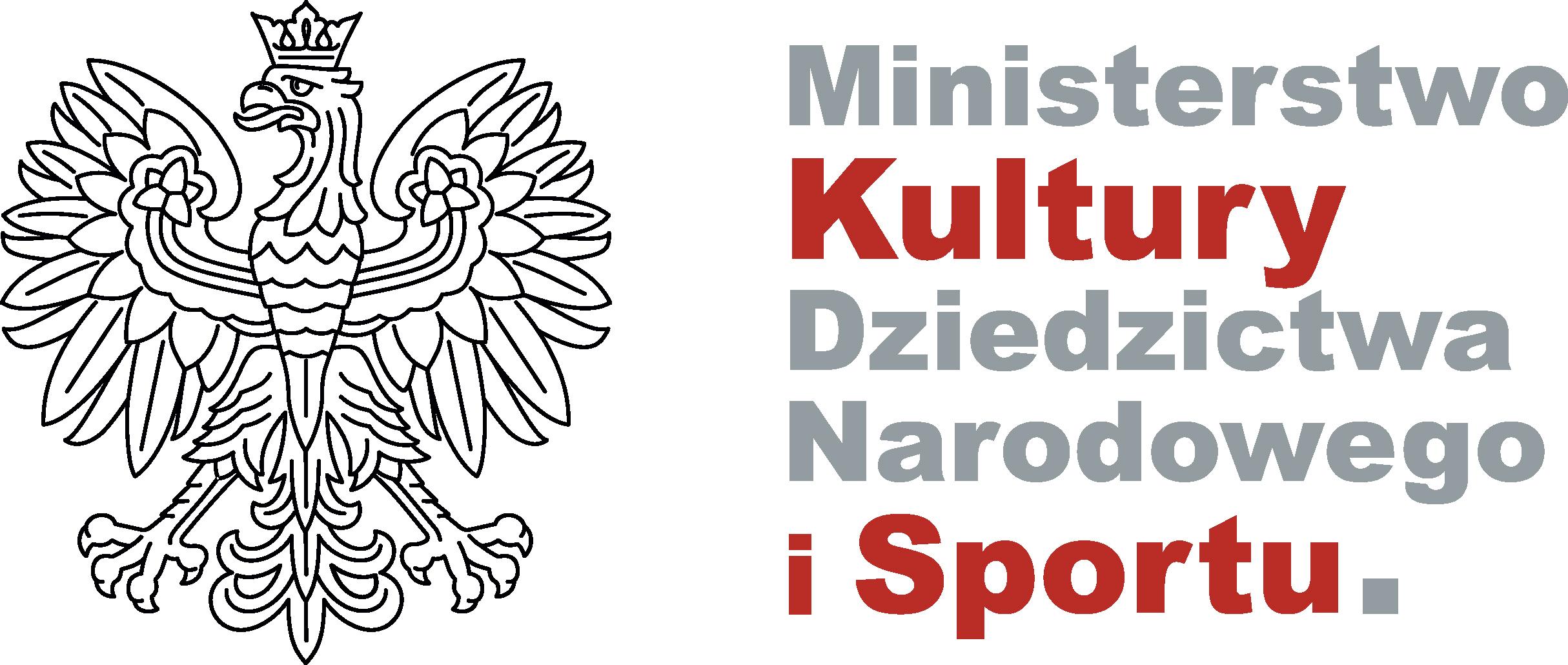 Logo Ministerstawa Kultury Dziedzictwa Narodowego iSportu