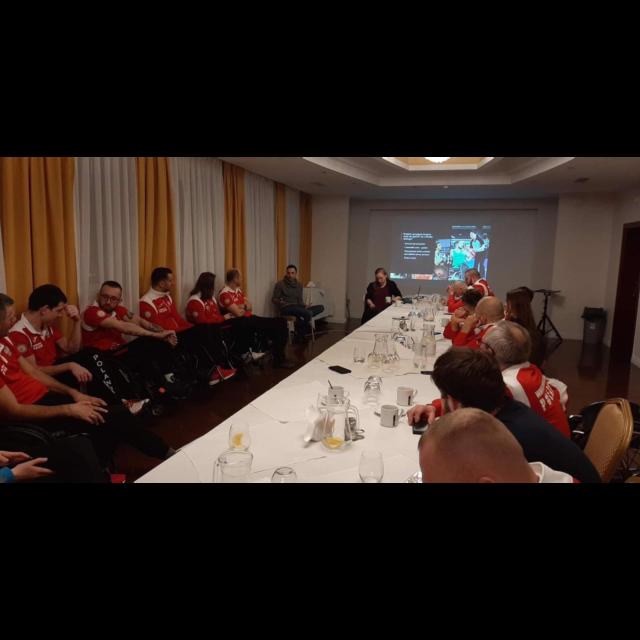 Szkolenie zawodników Kadry Narodowej rugby nawózkach