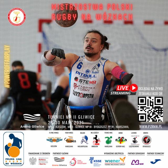II Turniej oMistrzostwo Polski wrugby nawózkach